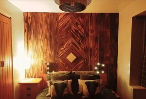 Accoya wood feature wall