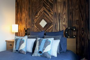Accoya wood feature wall close up