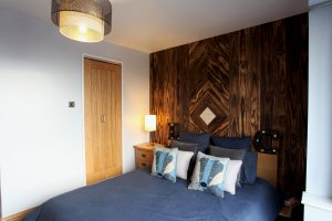 Accoya wood feature wall far shot