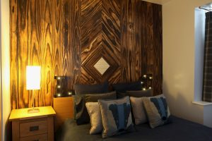 Side view of an Accoya wood wall