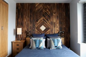 Accoya wood feature wall and bed
