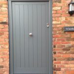 Front timber entrance door