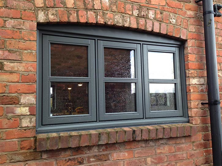 flush sash windows with double glazing