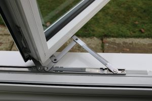 White aluminium window opening