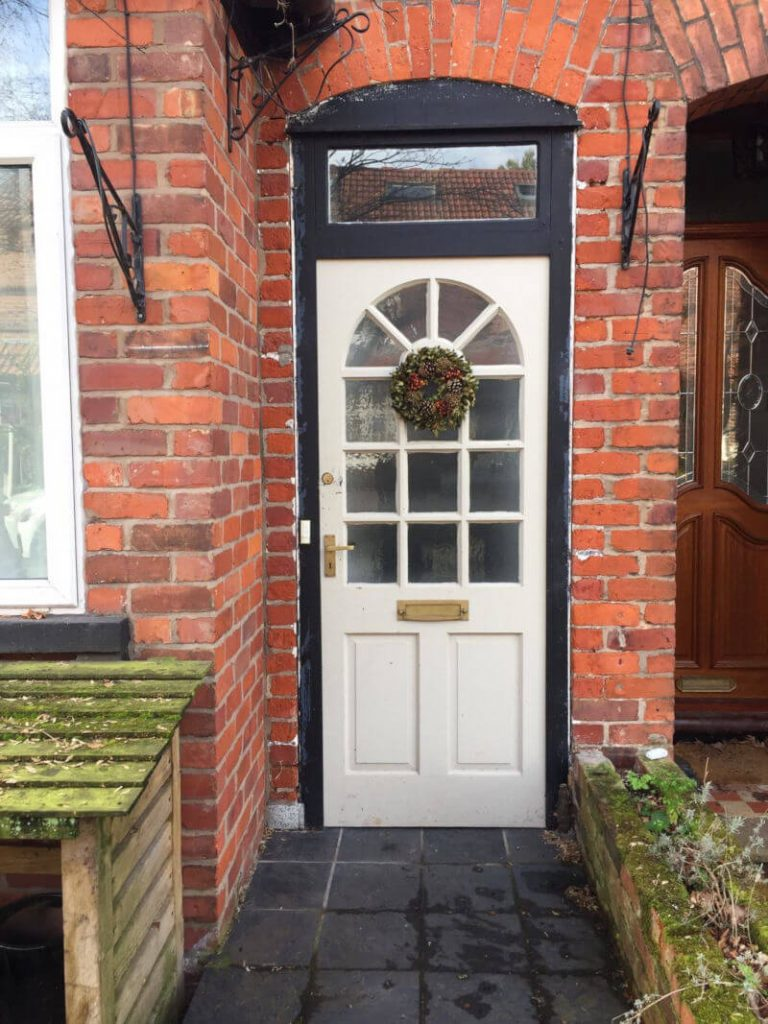 replacement entrance door (before) Knutsford