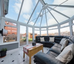 Ultraframe glass roof conservatory