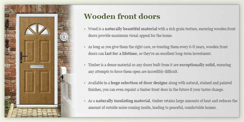 Timber doors infographic