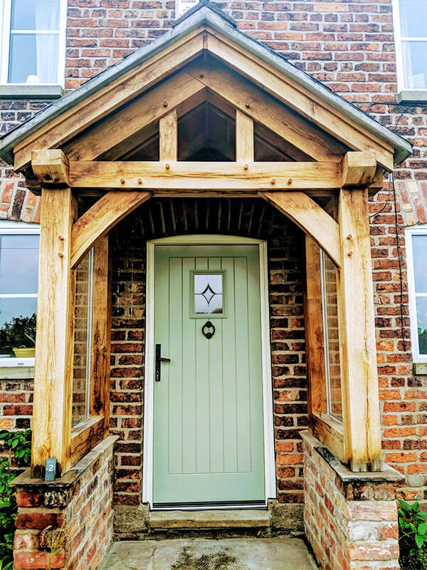 Green Composite Door in Cheshire