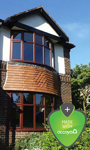 Accoya wood timber windows by Cheshire joinery Reddish