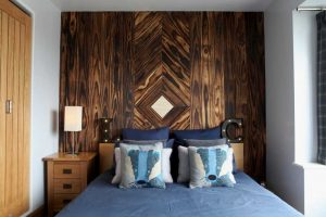 Accoya feature wall with bed
