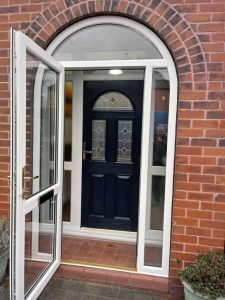 UPVC Arched Porch with composite door