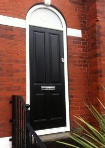 Black Accoya Front Door