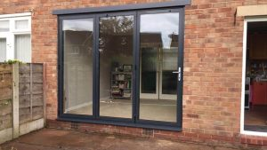 Black Bifold Door