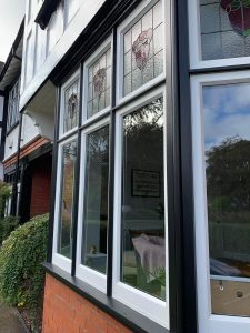Black Frame Timber Window
