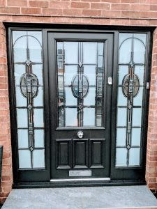 Black Glass Composite Door