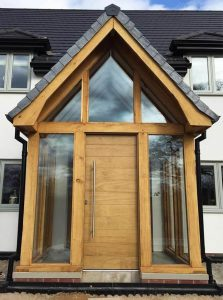 Brown Accoya Front Door