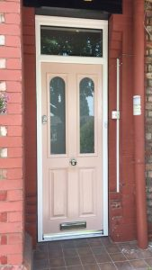 Cream traditional composite door