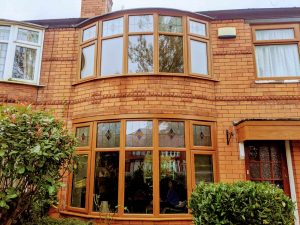 Timber Effect Brown Windows
