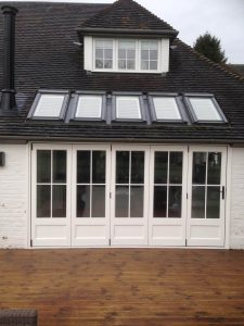 White Accoya Bifolding Door