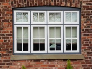 White & Black Timber Window