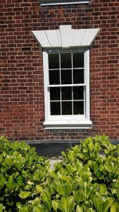White Sliding Sash Window