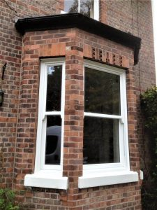White Timber Sliding Sash Bay Window
