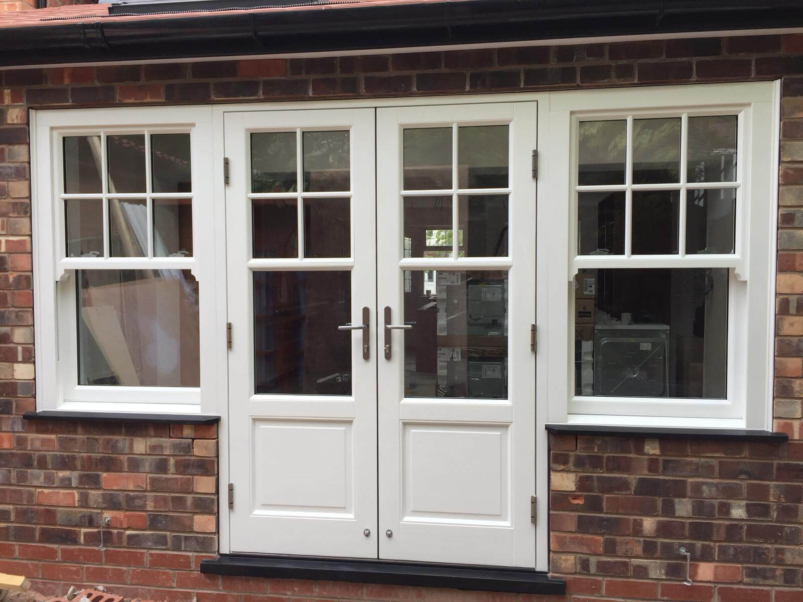 White Wooden French Doors