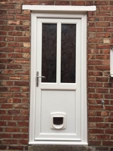 White uPVC Door