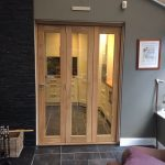 Wooden Internal Bifold Doors with glass