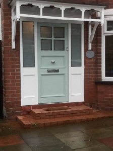 Green Accoya Door