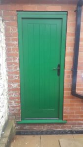 Green Accoya Timber Door