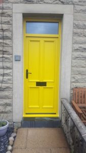 Yellow Accoya Timber Door