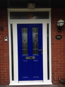 Blue safeguard composite door