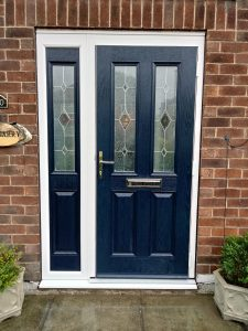 Steel blue composite door