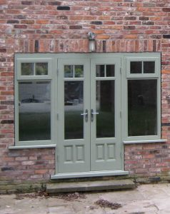 Chartwell green timber French doors