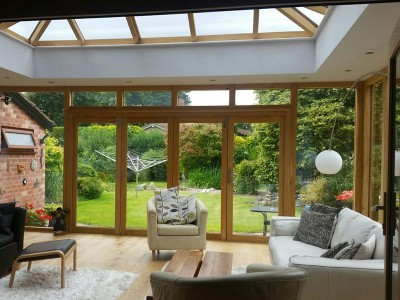 Timber Accoya Orangery with Lantern Roof