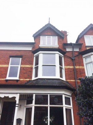 White timber traditional windows