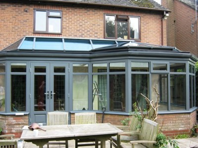 Timber orangery with roof lantern