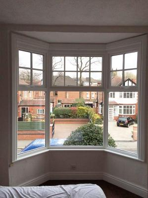 accoya mock sash bay windows