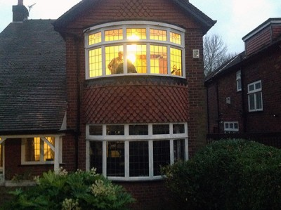 Timber bay windows
