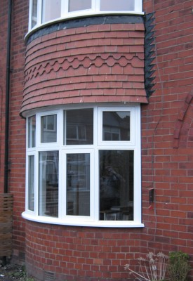 True curve Accoya bow window
