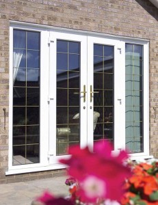 Leaded French doors